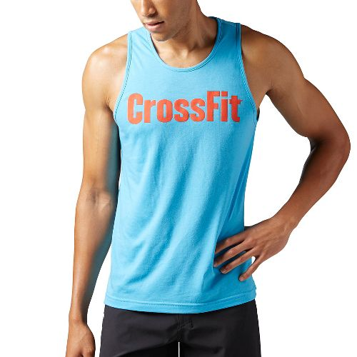 Mens Reebok CrossFit Forging Elite Fitness Sleeveless & Tank Tops Technical Tops - Orange S ...