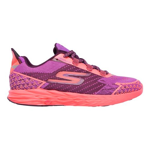 Womens Skechers GO Run 5 Nite Owl Running Shoe - Purple/Hot Pink 6.5
