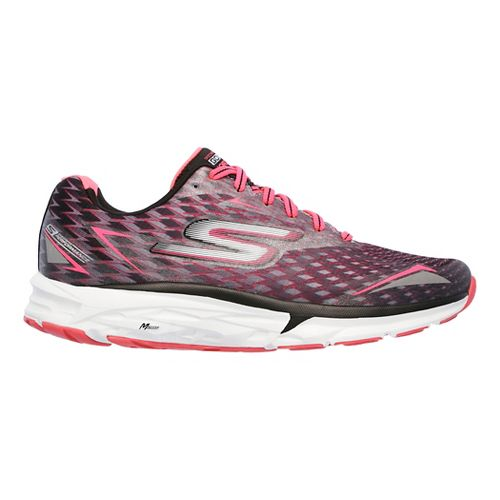 Womens Skechers GO Run Forza 2 Running Shoe - Black/Hot Pink 9.5