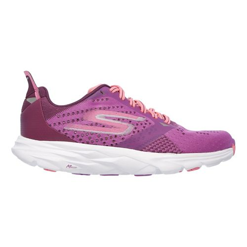 Womens Skechers GO Run Ride 6 Running Shoe - Purple/Hot Pink 10
