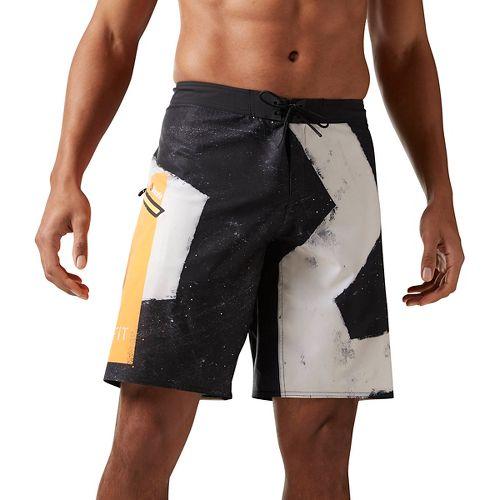 Mens Reebok CrossFit Super Nasty Core Star Unlined Shorts - Black 34