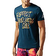 Mens Reebok CrossFit Support Your Local Box Tee Short Sleeve Technical Tops