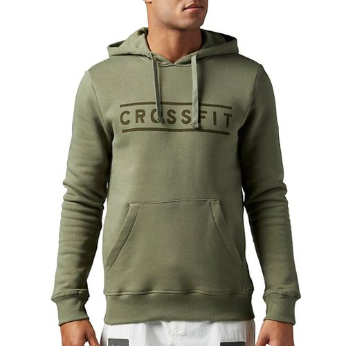 Mens Reebok CrossFit Virtuosity Half-Zips & Hoodies Technical Tops - Hunter Green L