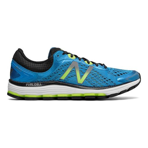 Mens New Balance 1260v7 Running Shoe - Blue/Lime 10.5