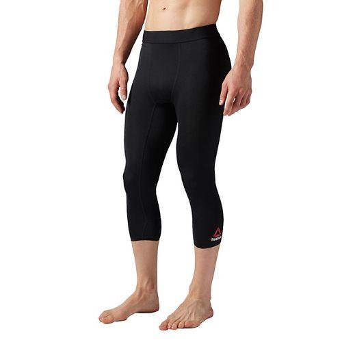 Mens Reebok 3/4 Compression Tights & Leggings Pants - Black L