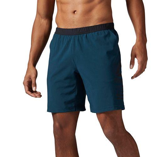 Mens Reebok Speed Unlined Shorts - Mineral Blue L