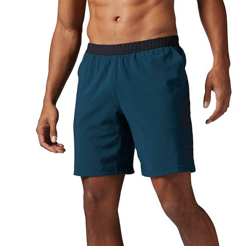 Mens Reebok Speed Unlined Shorts - Mineral Blue XXL