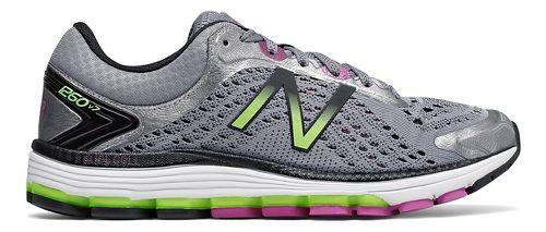 Womens New Balance 1260v7 Running Shoe - Grey/Green 10