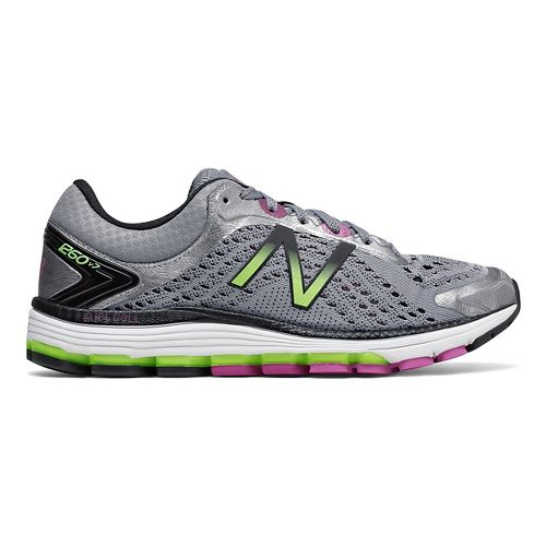Womens New Balance 1260v7 Running Shoe - Grey/Green 10.5