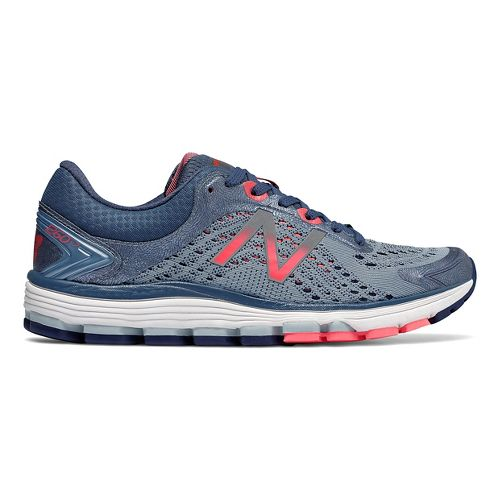 Womens New Balance 1260v7 Running Shoe - Indigo/Coral 8.5