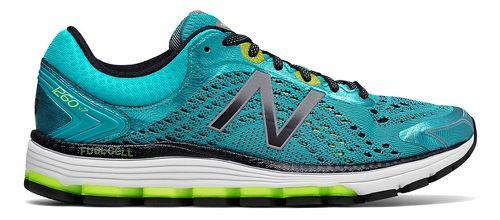 Womens New Balance 1260v7 Running Shoe - Blue/Lime 12