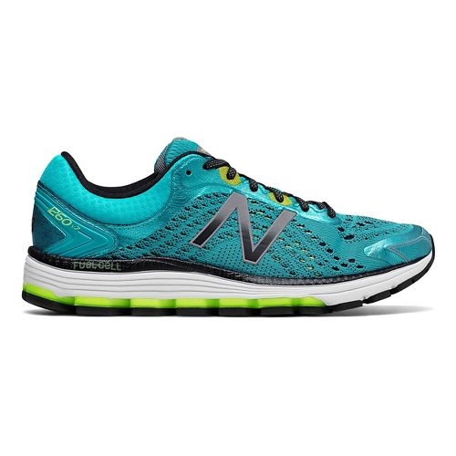 Womens New Balance 1260v7 Running Shoe - Blue/Lime 8.5