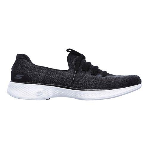 Womens Skechers GO Walk 4 - All Day Casual Shoe - Black/White 11