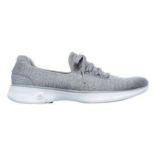 Womens Skechers GO Walk 4 - All Day Casual Shoe - Grey 10