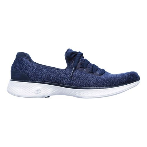 Womens Skechers GO Walk 4 - All Day Casual Shoe - Navy/White 8
