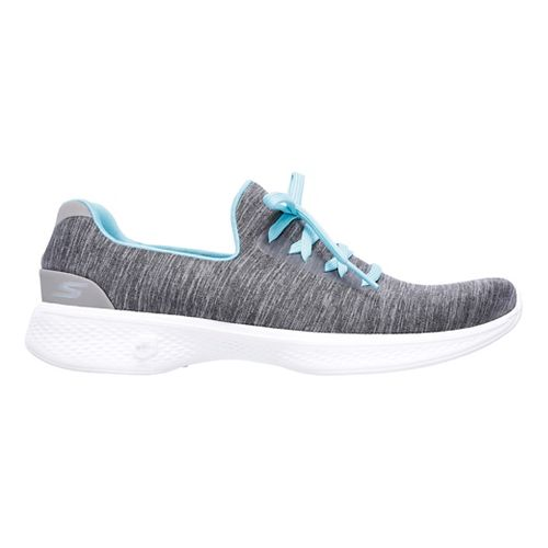 Womens Skechers GO Walk 4 - All Day Comfort Casual Shoe - Grey/Blue 10
