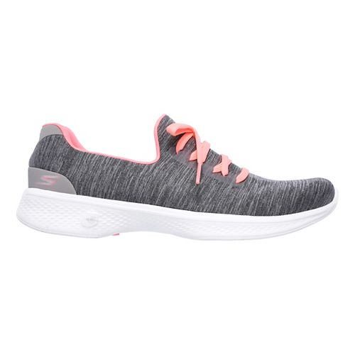 Womens Skechers GO Walk 4 - All Day Comfort Casual Shoe - Grey/Pink 7.5