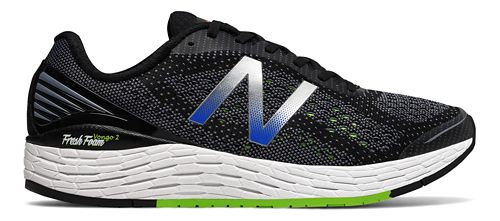Mens New Balance Fresh Foam Vongo v2 Running Shoe - Black/Lime 11.5