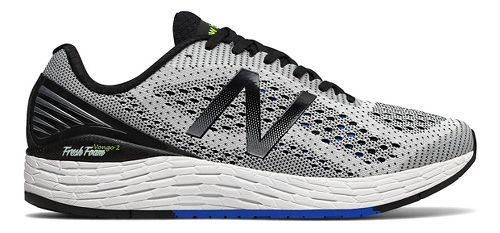 Mens New Balance Fresh Foam Vongo v2 Running Shoe - White/Black 9