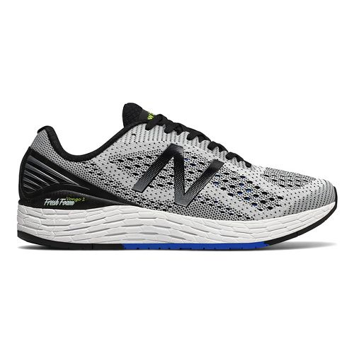 Mens New Balance Fresh Foam Vongo v2 Running Shoe - White/Black 7.5