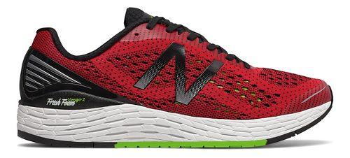 Mens New Balance Fresh Foam Vongo v2 Running Shoe - Red/Lime 11.5