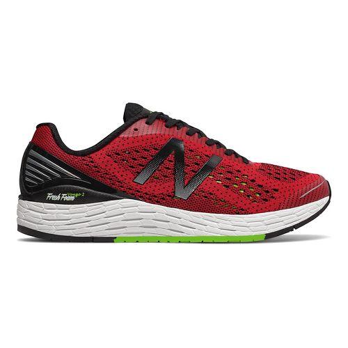 Mens New Balance Fresh Foam Vongo v2 Running Shoe - Red/Lime 12.5