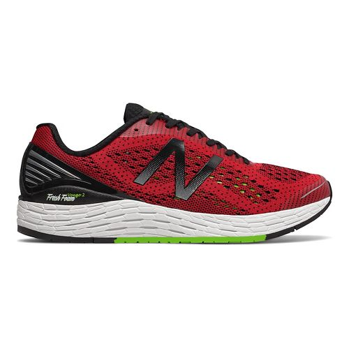 Mens New Balance Fresh Foam Vongo v2 Running Shoe - Red/Lime 8