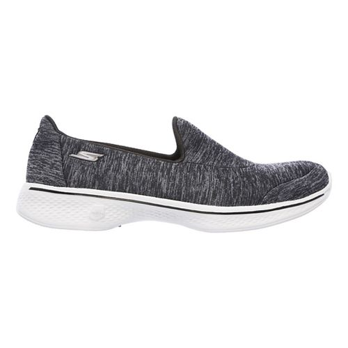 Womens Skechers GO Walk 4 - Astonish Casual Shoe - Black/Grey 10