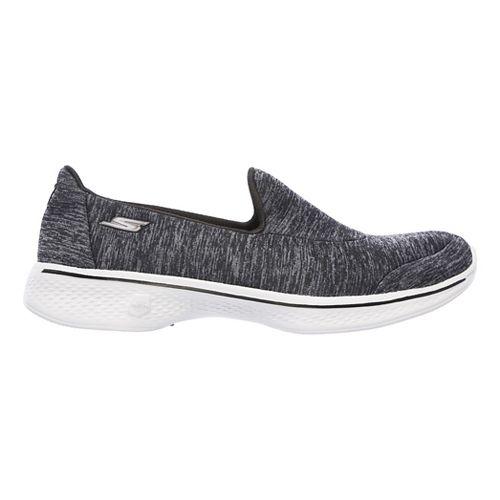Womens Skechers GO Walk 4 - Astonish Casual Shoe - Black/Grey 7.5