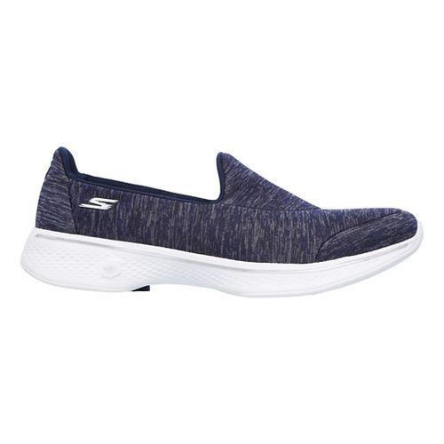 Womens Skechers GO Walk 4 - Astonish Casual Shoe - Navy/White 8.5