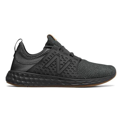 Mens New Balance Fresh Foam Cruz v1 Omni Running Shoe - Black/Black 9.5