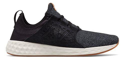 Mens New Balance Fresh Foam Cruz v1 Omni Running Shoe - Black/White 12.5