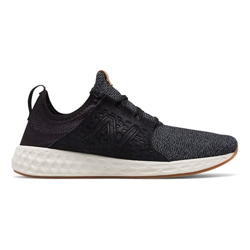 Mens New Balance Fresh Foam Cruz v1 Omni Running Shoe - Black/White 13