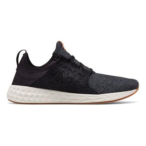 Mens New Balance Fresh Foam Cruz v1 Omni Running Shoe - Black/White 9.5