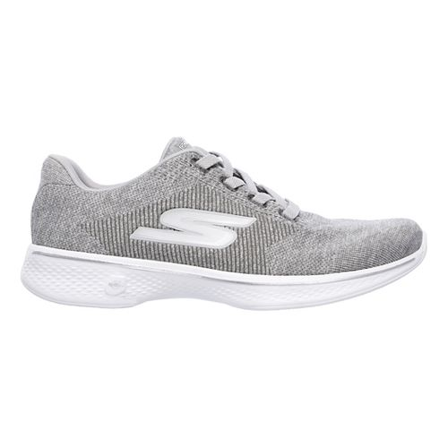 Womens Skechers GO Walk 4 - Cherish Casual Shoe - Grey 9.5
