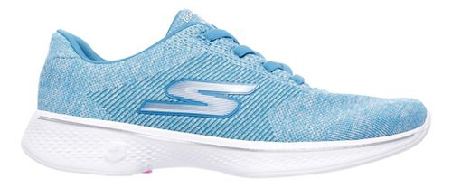 Womens Skechers GO Walk 4 - Cherish Casual Shoe - Turquoise 10