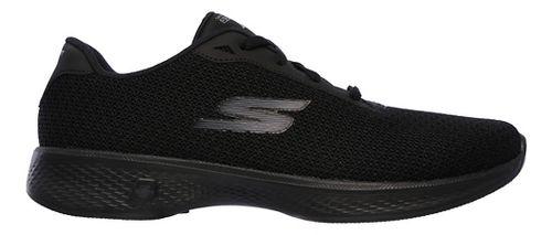 Womens Skechers GO Walk 4 - Glorify Casual Shoe - Black/White 9