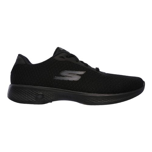Womens Skechers GO Walk 4 - Glorify Casual Shoe - Black 6