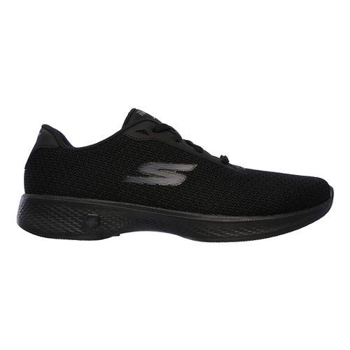 Womens Skechers GO Walk 4 - Glorify Casual Shoe - Black 8.5