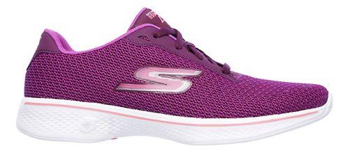 Womens Skechers GO Walk 4 - Glorify Casual Shoe - Purple/Pink 6