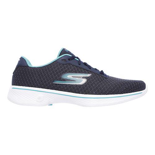 Womens Skechers GO Walk 4 - Glorify Casual Shoe - Navy/Teal 10
