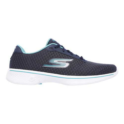 Womens Skechers GO Walk 4 - Glorify Casual Shoe - Navy/Teal 8