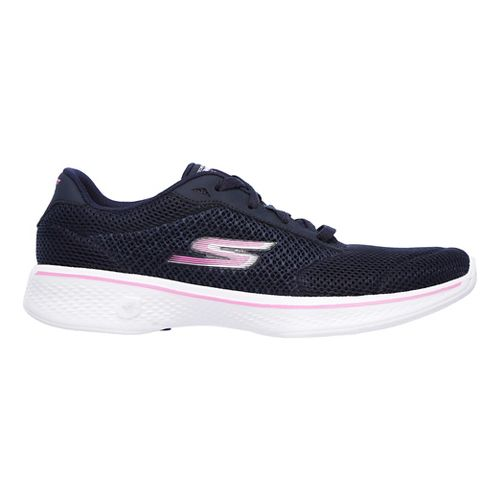 Womens Skechers GO Walk 4 - Incite Casual Shoe - Navy/Pink 13