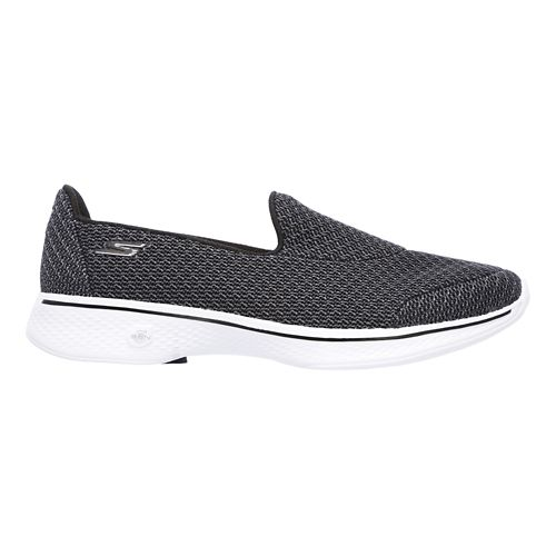 Womens Skechers GO Walk 4 - Majestic Casual Shoe - Black/White 11