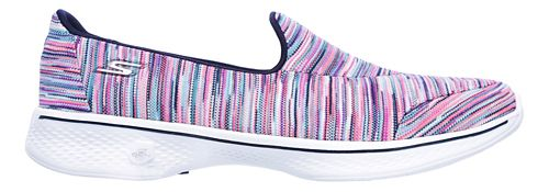 Womens Skechers GO Walk 4 - Merge Casual Shoe - Multicolored 10