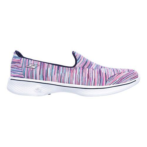 Womens Skechers GO Walk 4 - Merge Casual Shoe - Multicolored 8.5