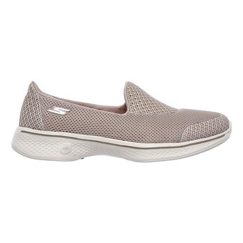 Womens Skechers GO Walk 4 - Propel Casual Shoe - Taupe 5.5