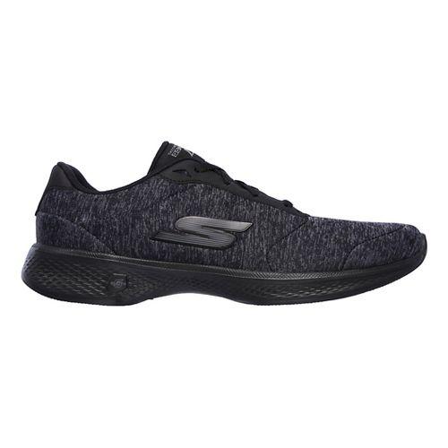 Womens Skechers GO Walk 4 - Serenity Casual Shoe - Black/Grey 12