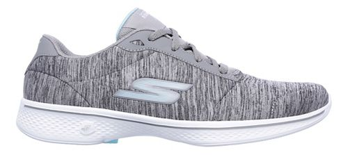 Womens Skechers GO Walk 4 - Serenity Casual Shoe - Grey/Blue 6.5