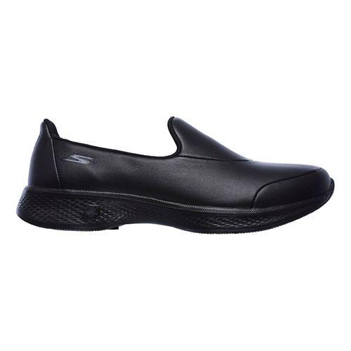Womens Skechers GO Walk 4 - Upscale Casual Shoe - Black 6